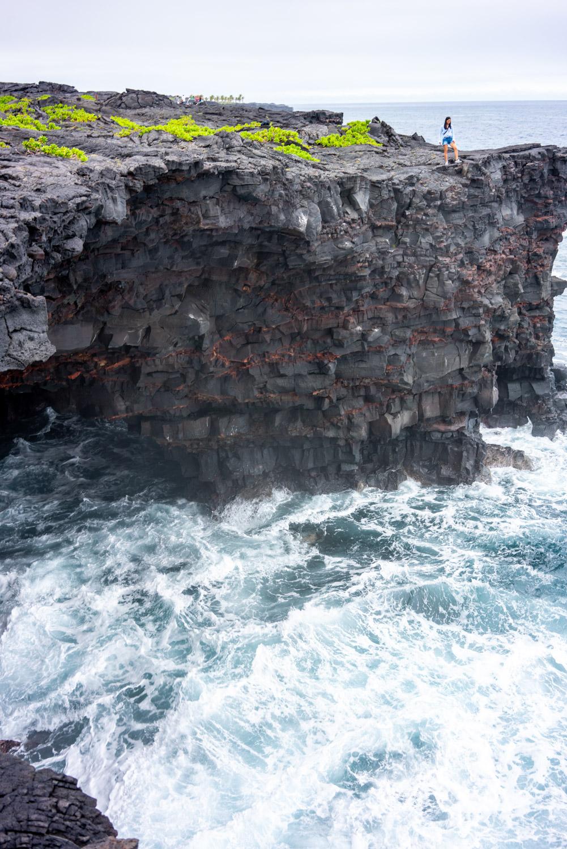 Sea arch at hawaii volcanoes park