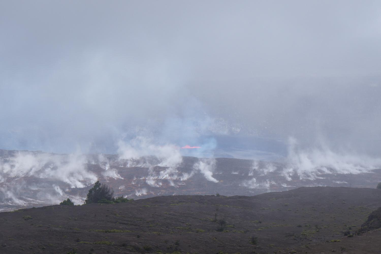 lava at volcanoes national park