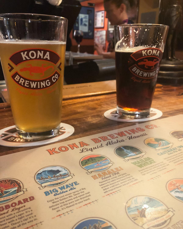 Enjoy a flight (make sure to try the Koko Brown!) - Kona Brewing