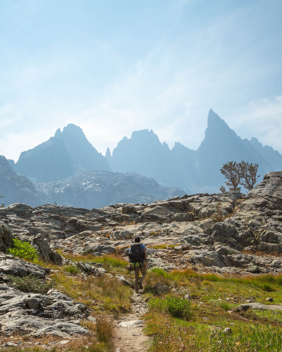 Our first glimpses of the jagged peaks