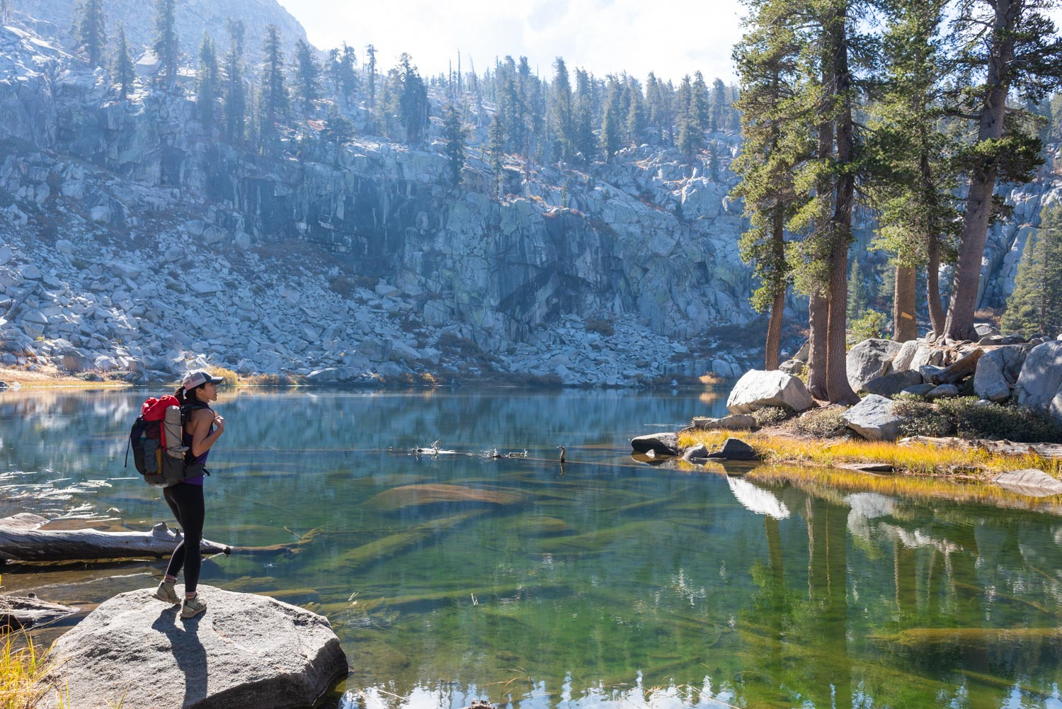 Best fishing at Heather Lake on the Lakes Trail in CA