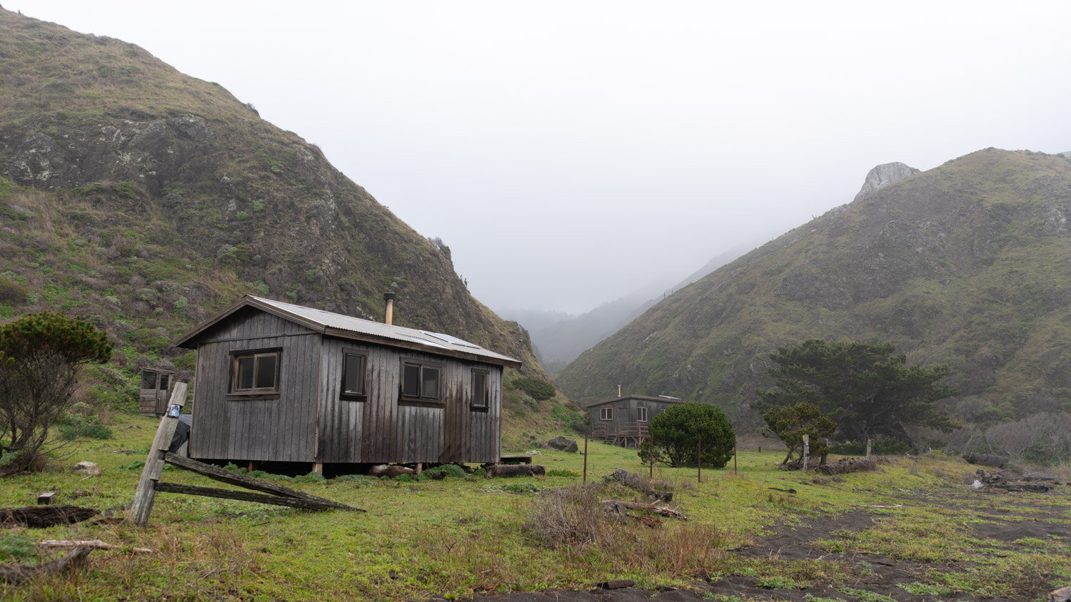 Houses on the Lost Coast in Northern California