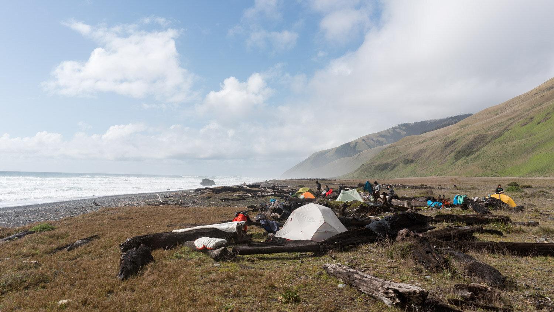 Our incredible camp at Spanish Creek