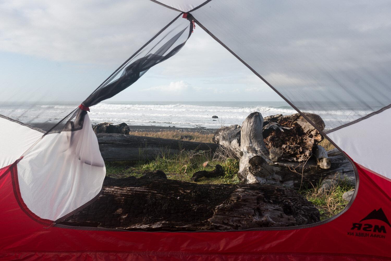 Ocean view camp site at Spanish Creek