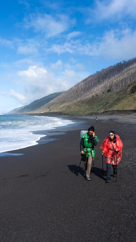 Hiking the Lost Coast near Petrolia and Shelter Cove