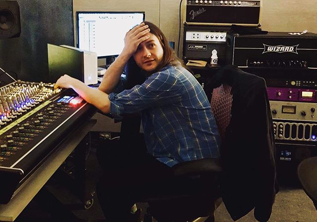 """#studio #producer @_jon_grace_ and his """"it's before midday and I have only had 2 coffees"""" #vibe 📸: @stu.e.michaels"""