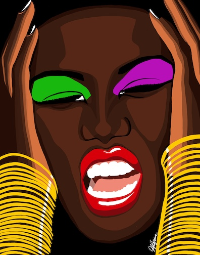 Grace Jones, Digital Painting, 2019