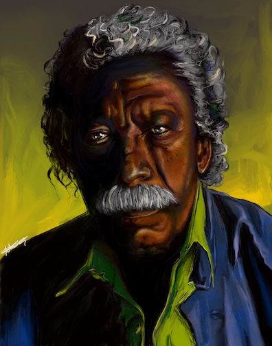 Gordon Parks, Digital Painting, 2019