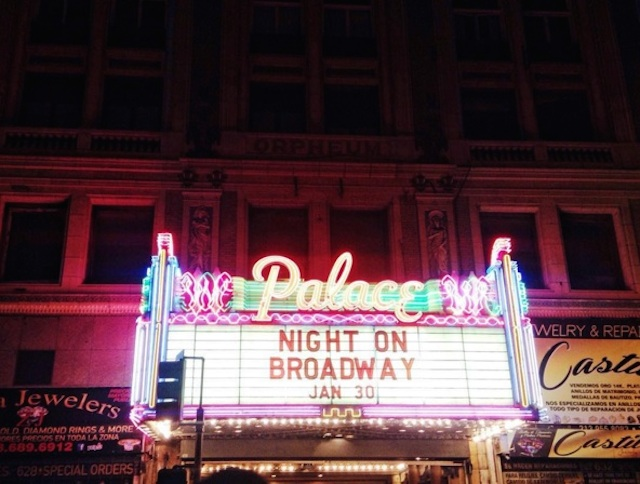 Night on Broadway celebration, Downtown Los Angeles. The festival was part of the larger Bringing Back Broadway initiative.