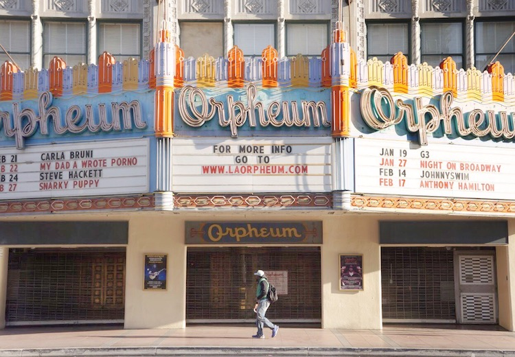 Los Angeles' historic Broadway district has the largest concentration of historic theaters in the nation.