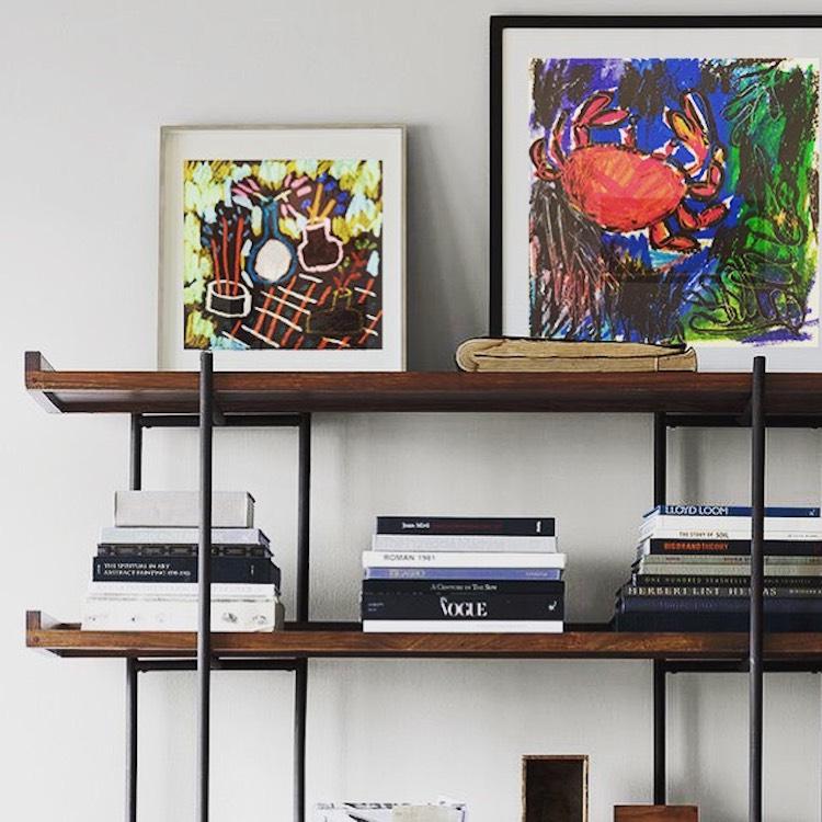 Deswarte's oil pastels on display