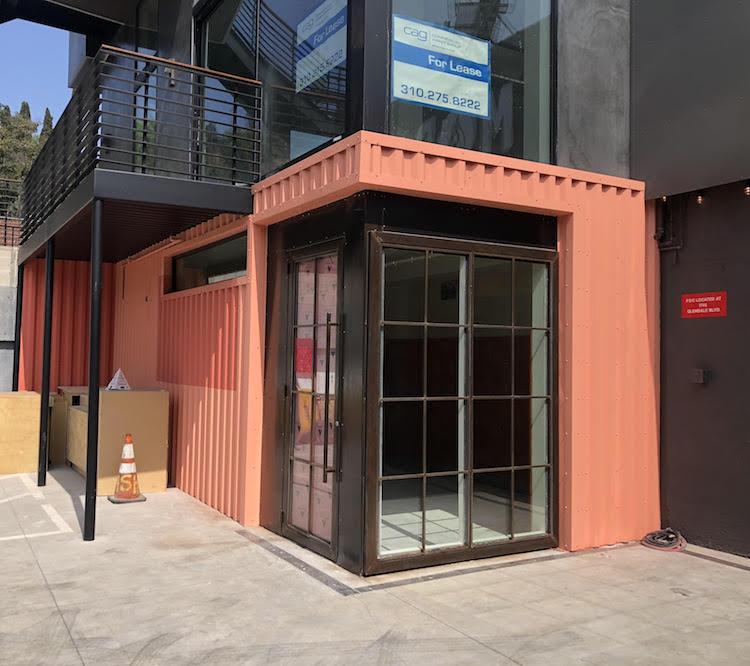 Shipping container vibes at the new Shreebs Echo Park.Photo via  Shreebs Coffee