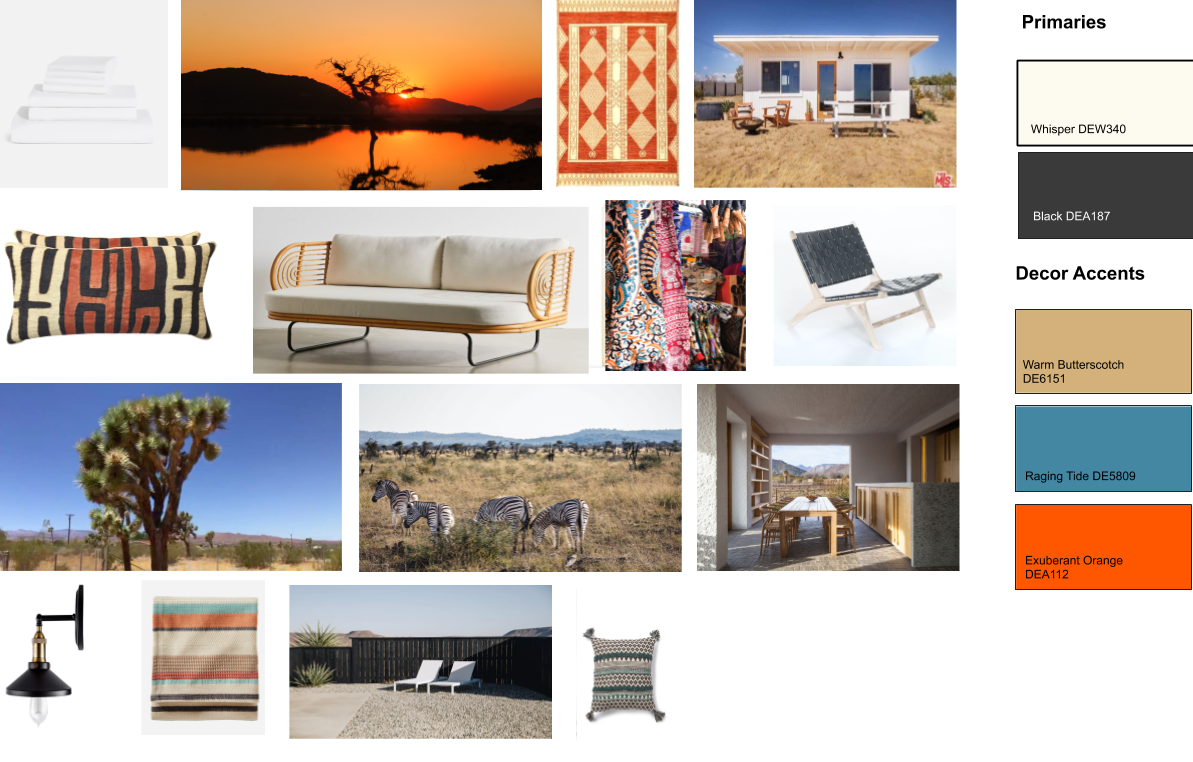 My initial design moodboard for the project