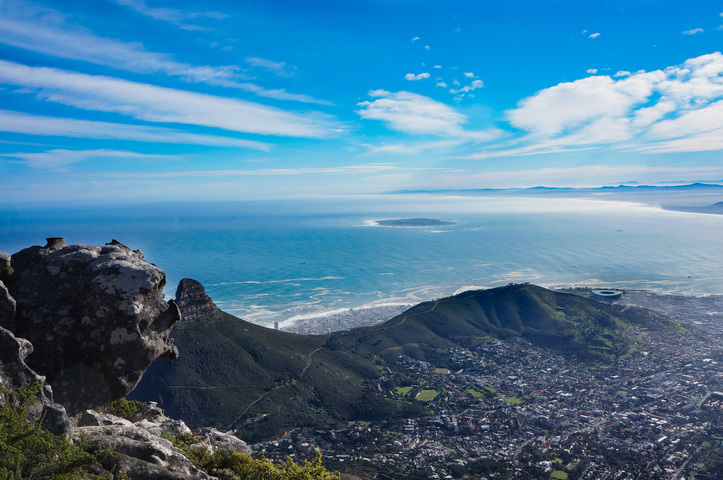 Atlantic Ocean blues from the top of Table Mountain