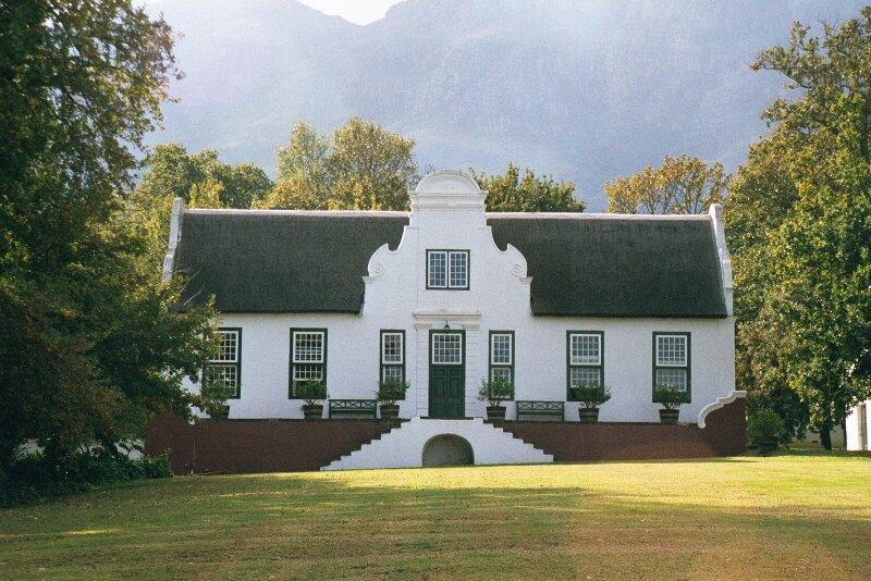 Cape Dutch architecture. Photo via  The English Room