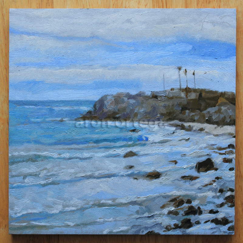 Seascape I, Oil on Panel, 8 x 8 in. 2011