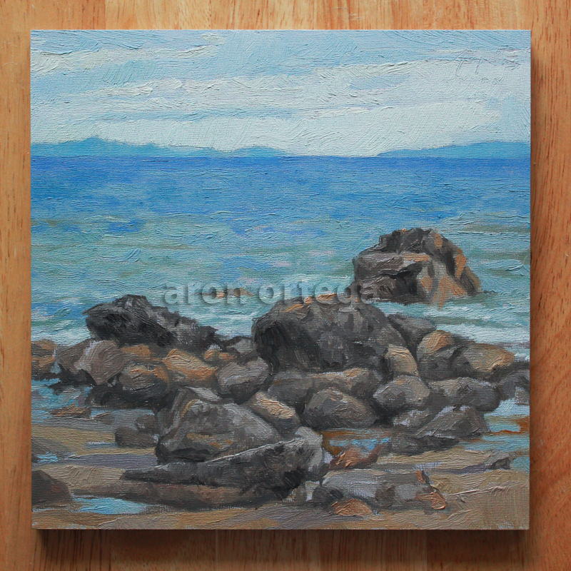 Seascape V, Oil on Panel, 8 x 8 in. 2011