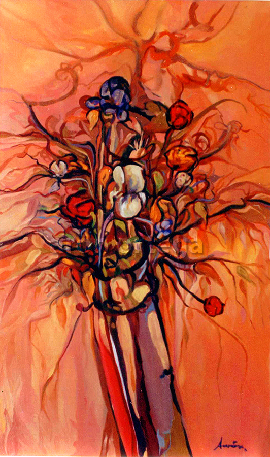 Floral, Oil on Canvas, 2002