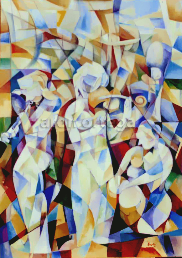 Adagio, Oil on Canvas, 78 x 56 in. 2001