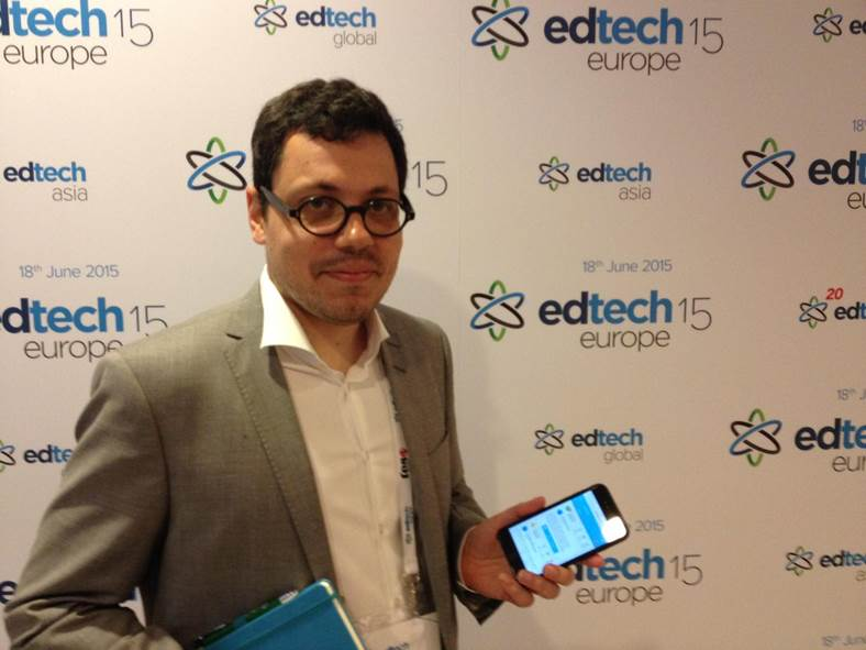 PEDRO COUTINHO, LOGUE project manager at edtech europe 2015 in london