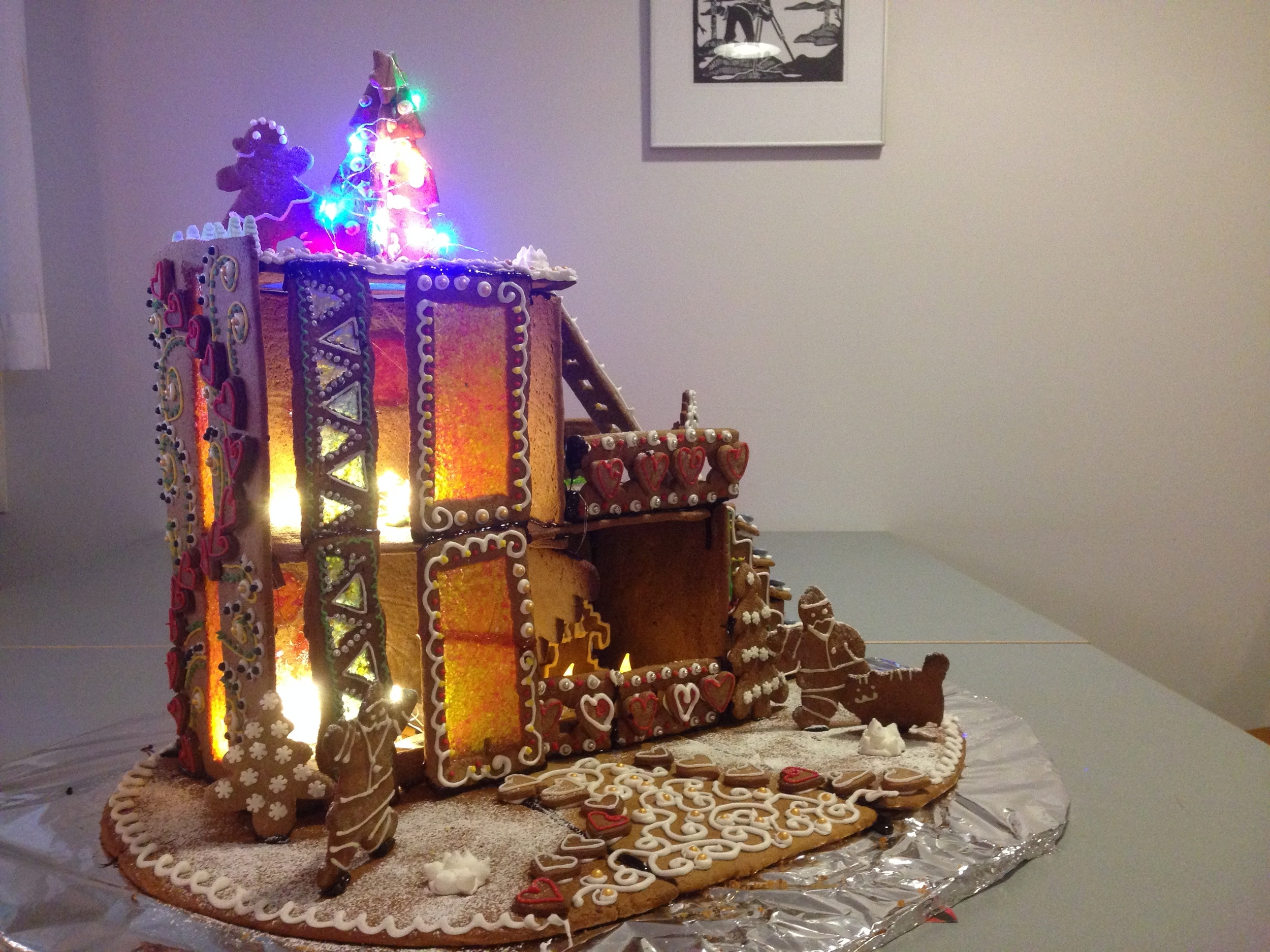 The LAB team's gingerbread house, auctioned for charity!