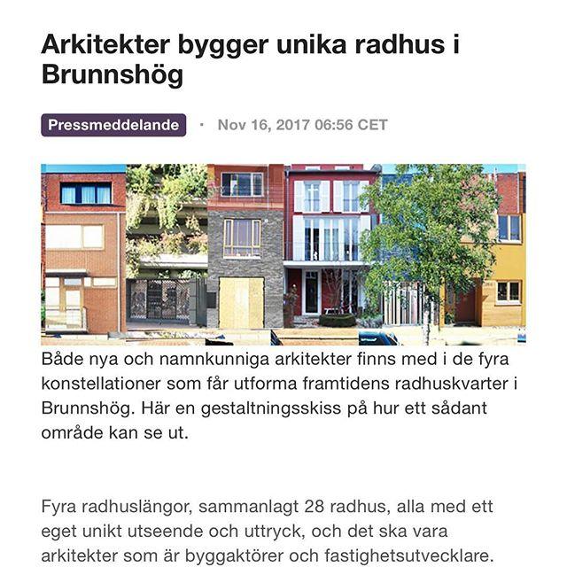 Äntligen! Testbedstudio tillsammans med Förstberg-Ling och Kudu AB är ett av fyra dreamteam som skall utveckla arkitektradhus i Brunnshög.  http://www.mynewsdesk.com/se/lund/pressreleases/arkitekter-bygger-unika-radhus-i-brunnshoeg-2276733