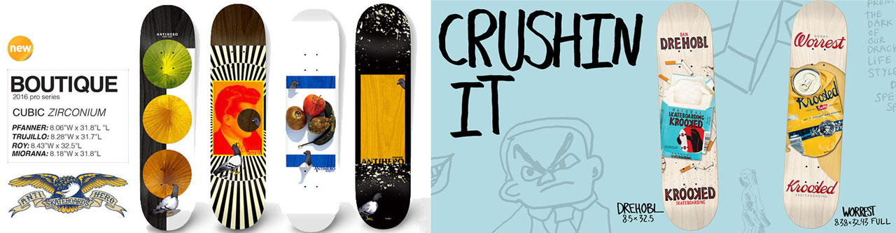 Antihero & Krooked Skateboards