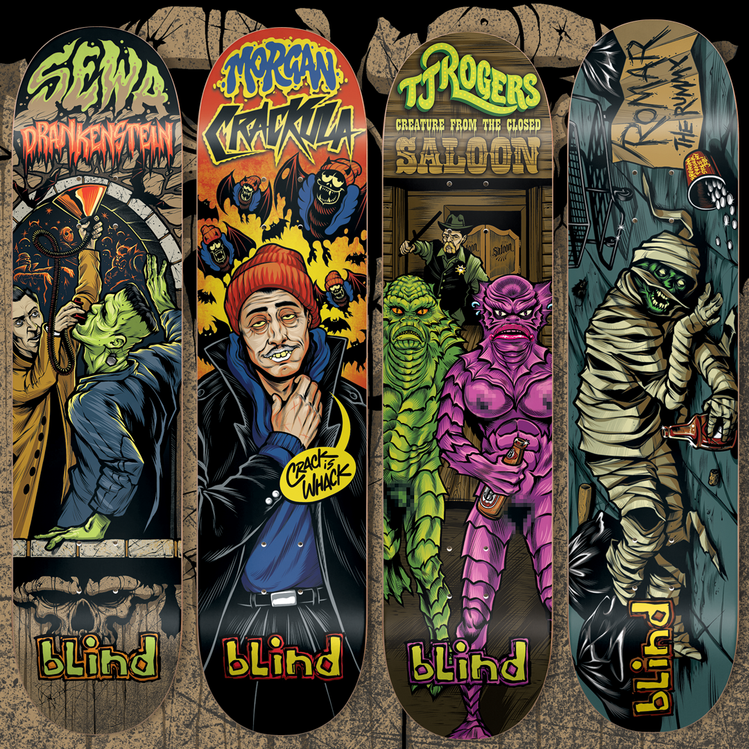 Blind Skateboards Party Monsters Serie