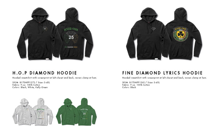 House of Pain X Diamond Hoodies