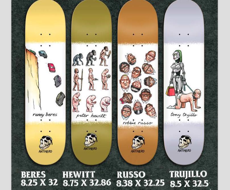 Antihero Skateboards Evolution Series