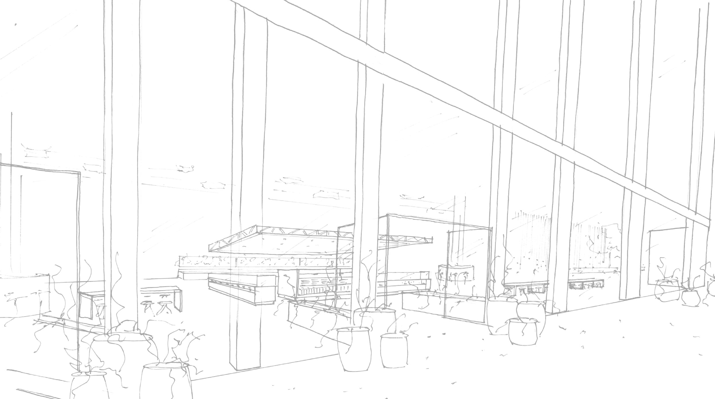 Store Front Sketch