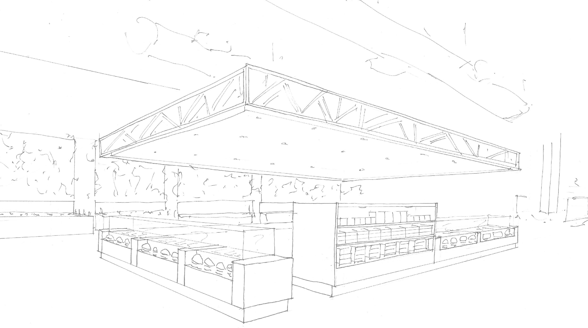 Central Kitchen Sketch