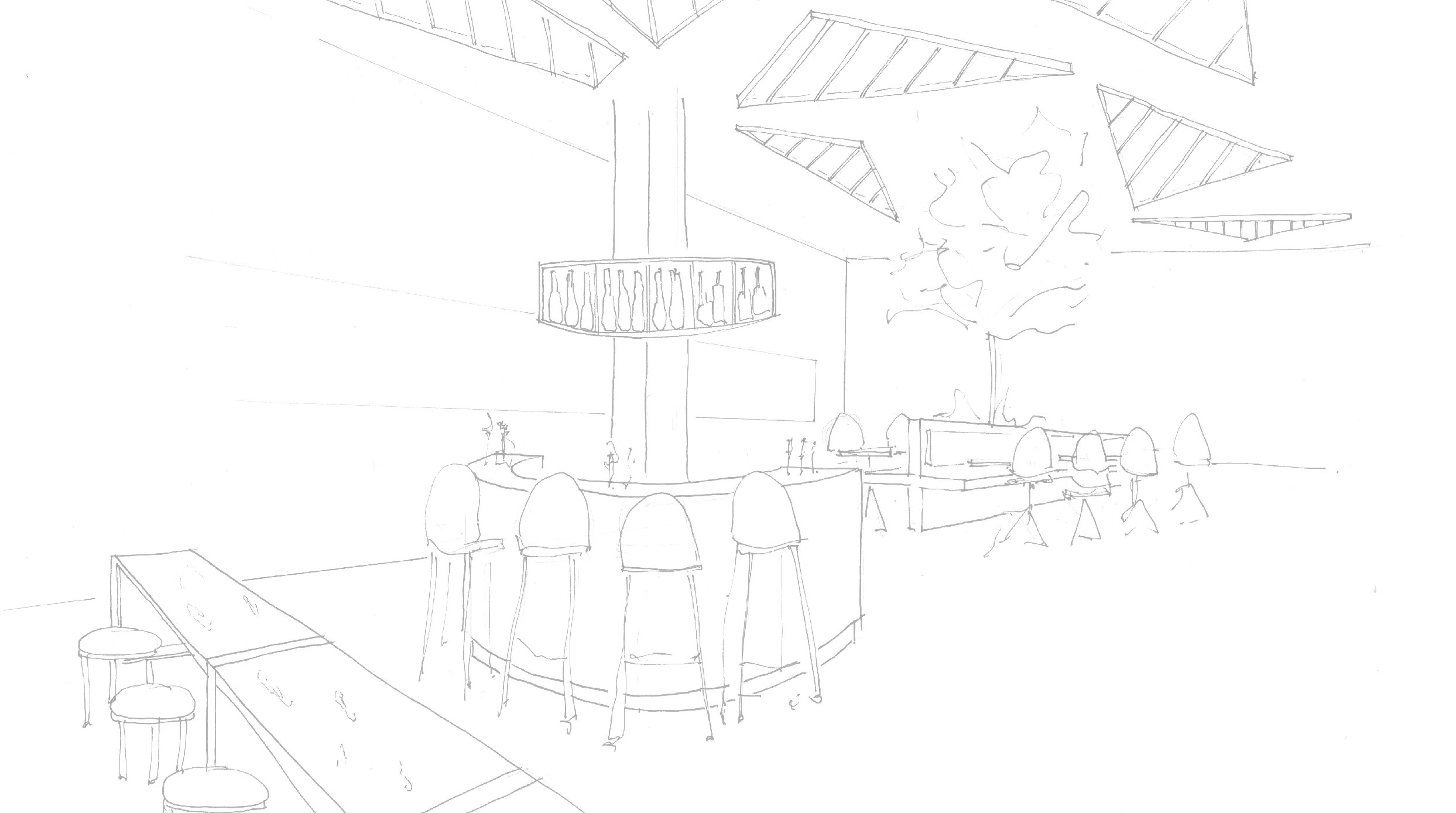 Champagne Bar Sketch