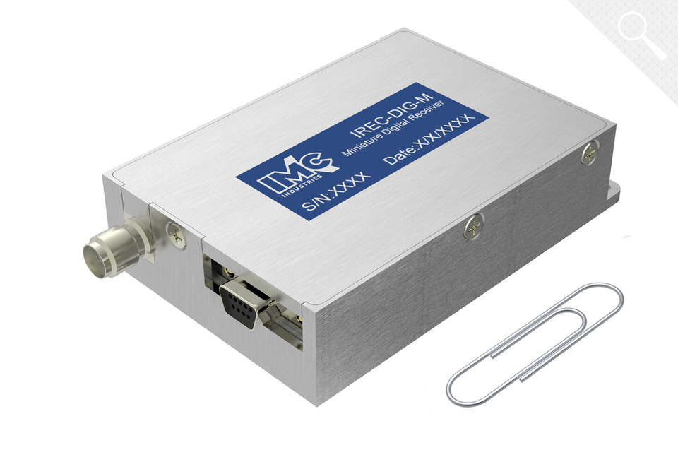 Miniature digital telemetry receiver   The IREC-DIG-M family is a family of miniature sized light weight telemetry receivers designed for airborne & UAV telemetry applications. Available in L, S and C band and a bit rate of up to 2Mbps. ~65gr, 68x49x14mm