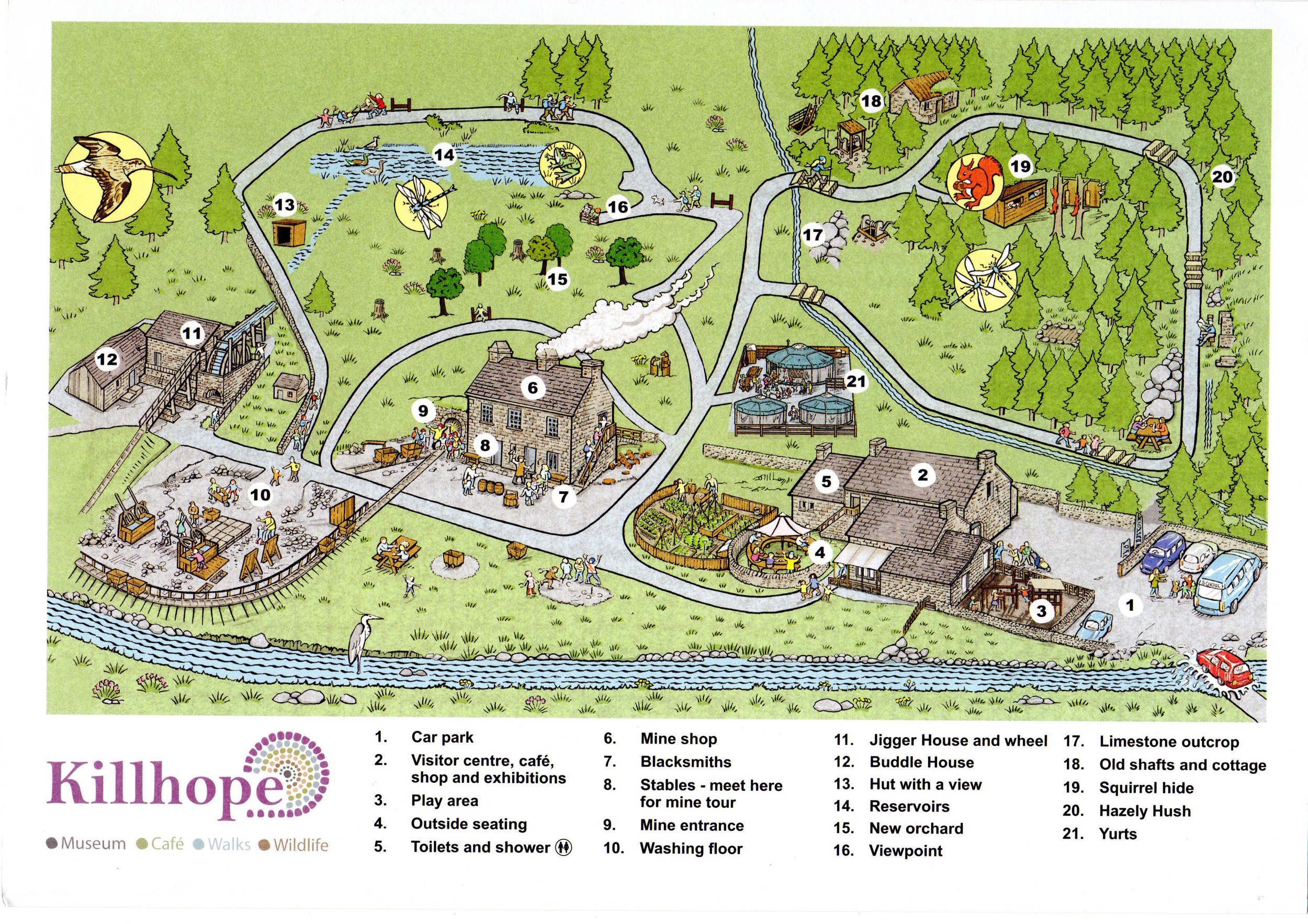 Map of the whole Killhope site shared here with the kind permission of Durham County Council.