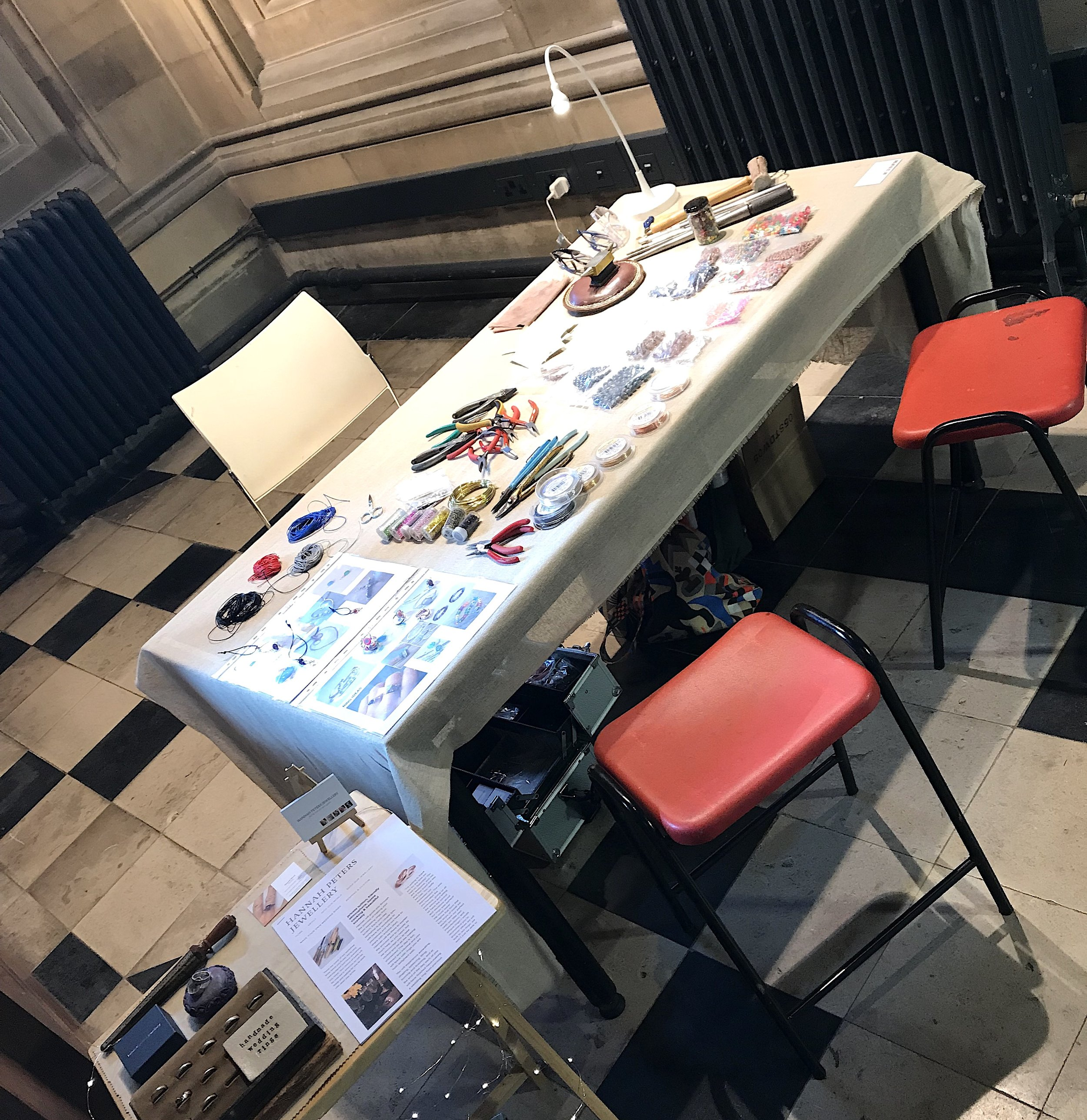 all set up in the foyer.JPG