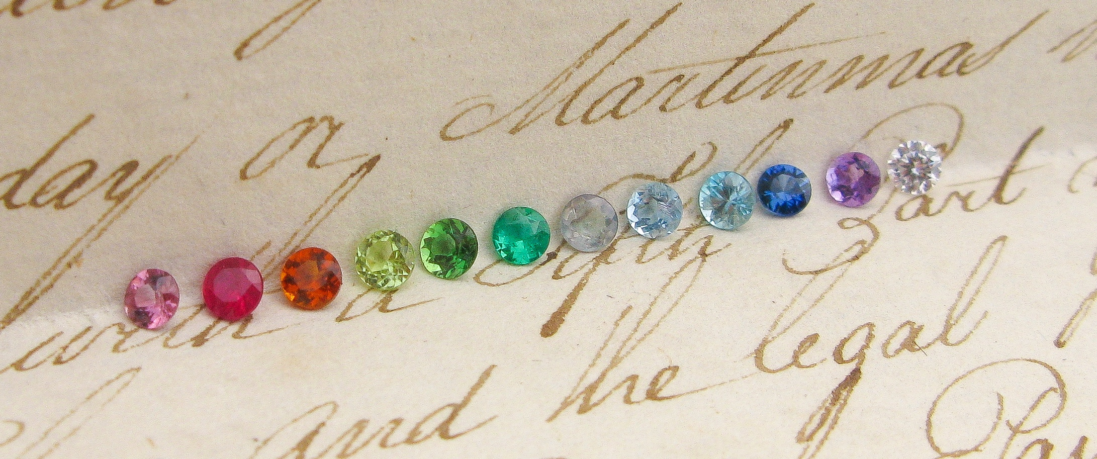 All the colours of the rainbow! Choose your favourite in our   Rainbow Birthstones   collection.