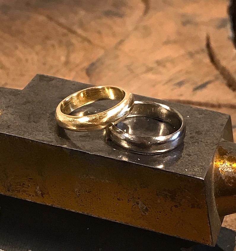 Becca & Liz in 2019 … made in 18ct yellow gold and 18ct white gold