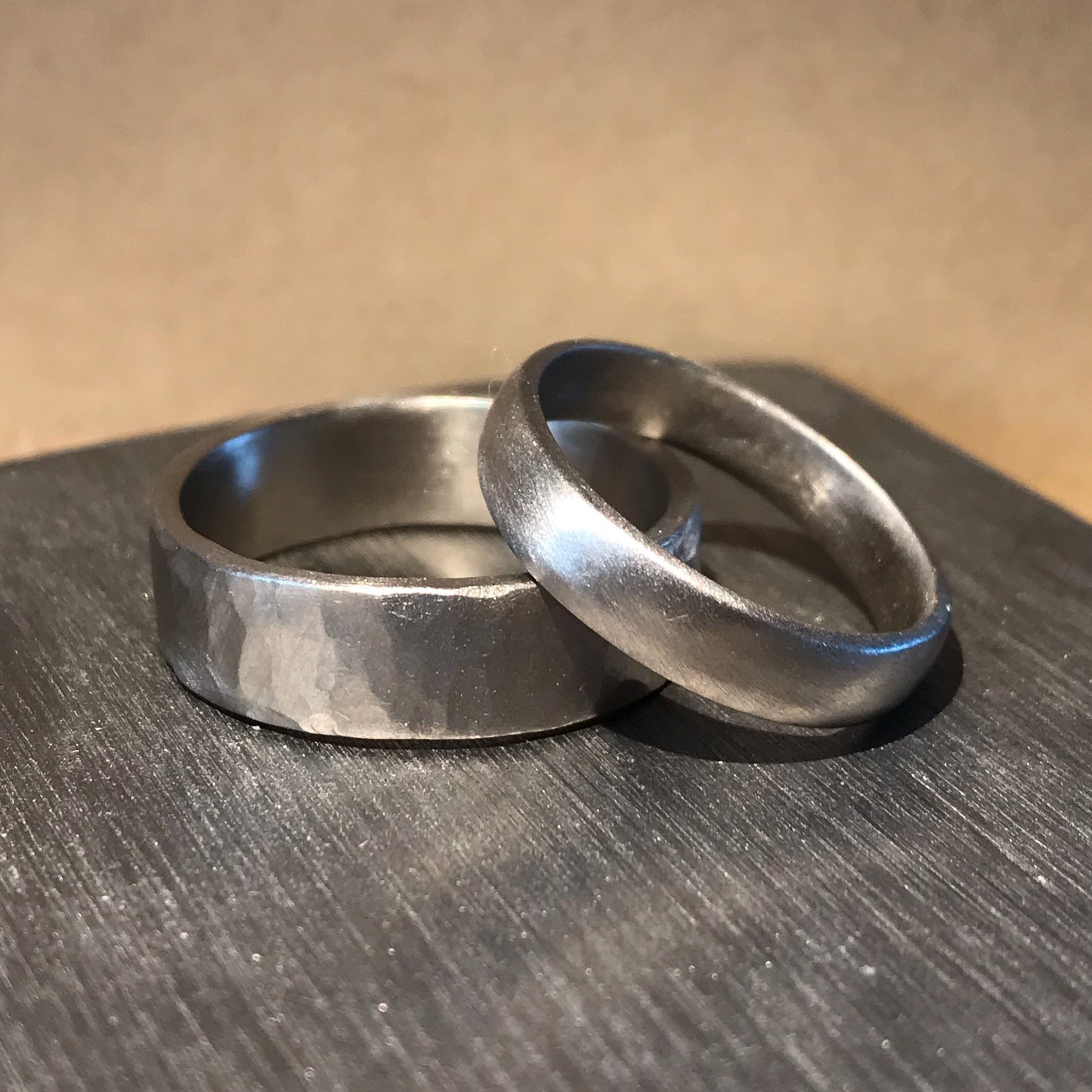 Amy & Tom in 2019 … made in 18ct white gold