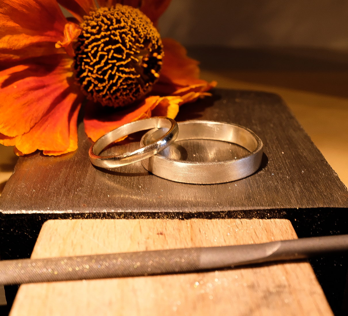 Jane & Craig in 2019 … made in 9ct white gold