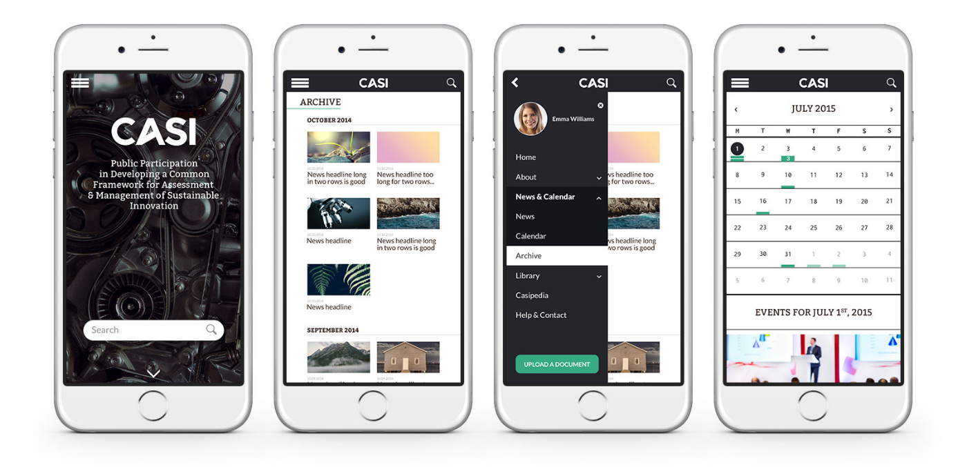 Responsive layout for mobile devices