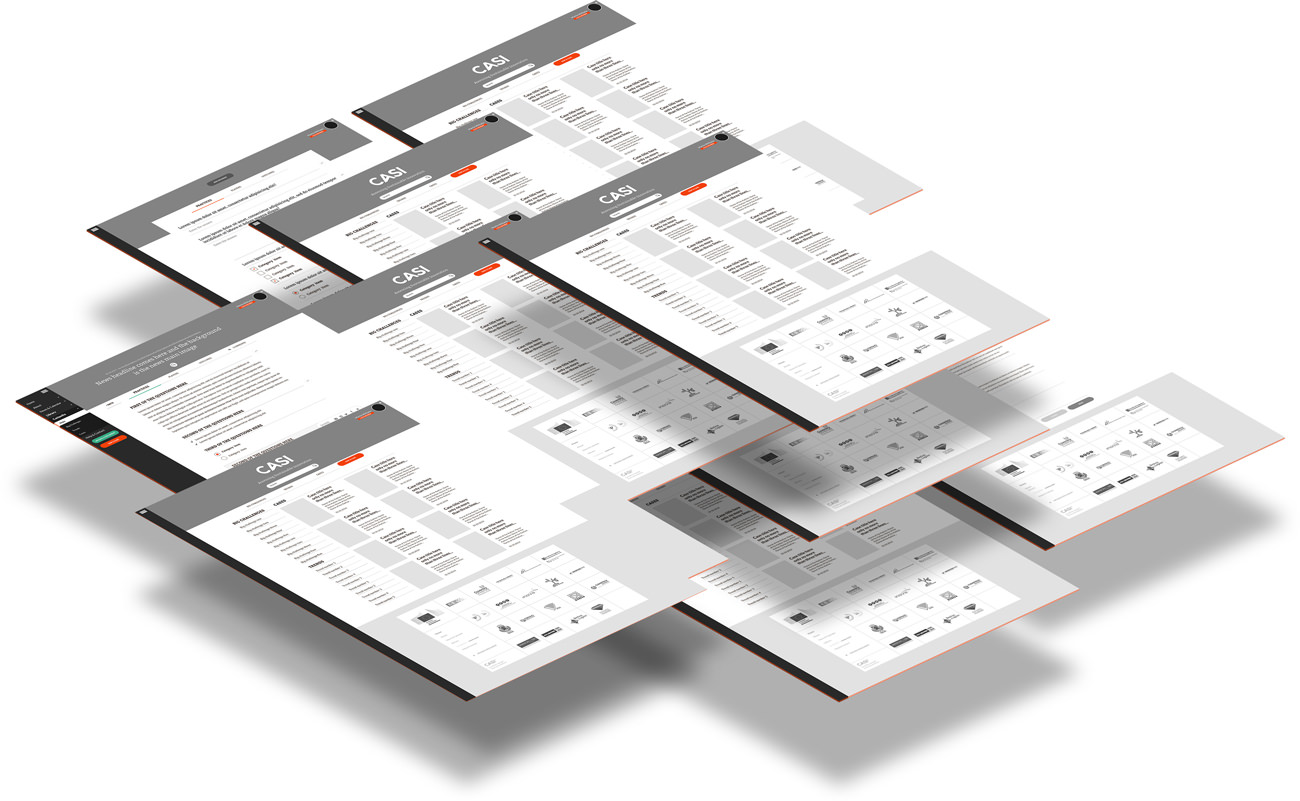 Some wireframes