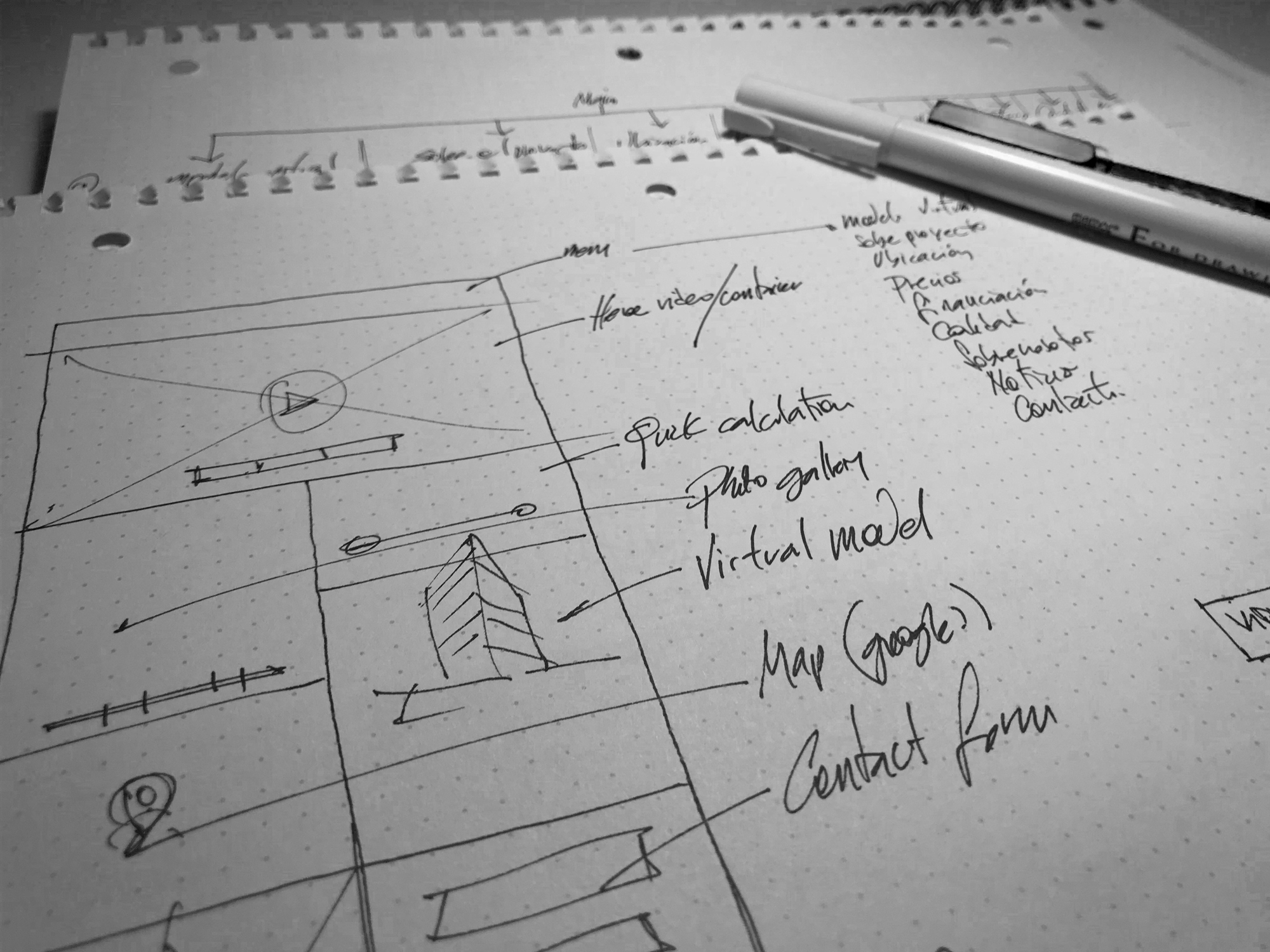 Content structure & wireframes