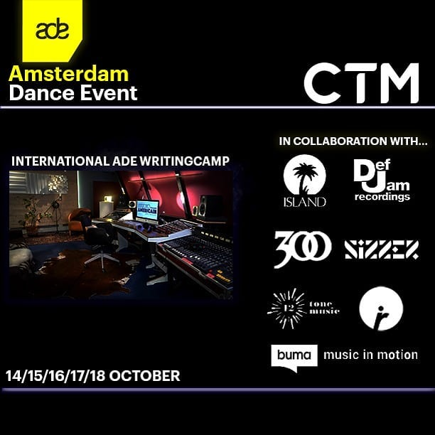 The preparations for our International ADE Writingcamp are in full effect. We are looking forward to some amazing new songs! #writingcamp #studio #session #songwriting #sync #amsterdamdanceevent #ade