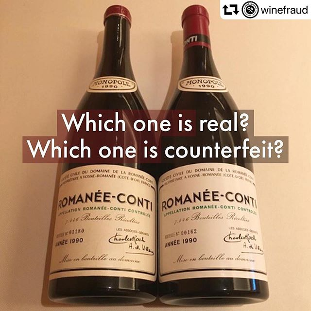 "Which is the real #DRC ?  Although counterfeit wine is far from a novelty it is indeed a growing problem in the wine industry. Particularly for ""blue chip wines"" such as top Bordeaux and Burgundy which are not uncommon wines in yachting.  With this in mind we obviously feel it is our responsibility to take all countermeasures possible to avoid any counterfeit bottles.  Therefore, Louise Sydbeck MW (Founder of Riviera Wine) has attended a training with the world leader in wine authentication, Maureen Downey from Winefraud.com. We are also a member of the Winefraud.com through which we are kept informed of potential risks, suspected suppliers and high risk wines or vintages.  As a supplier of rare wines to superyachts, this is essential training for a #sommelier , collector and retailer alike. 📷@winefraud"