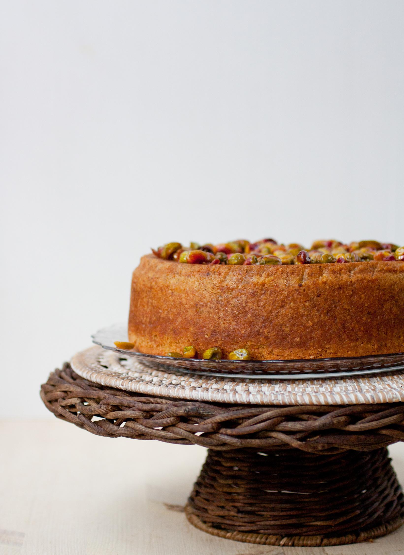 Lemon-pistachio-cake