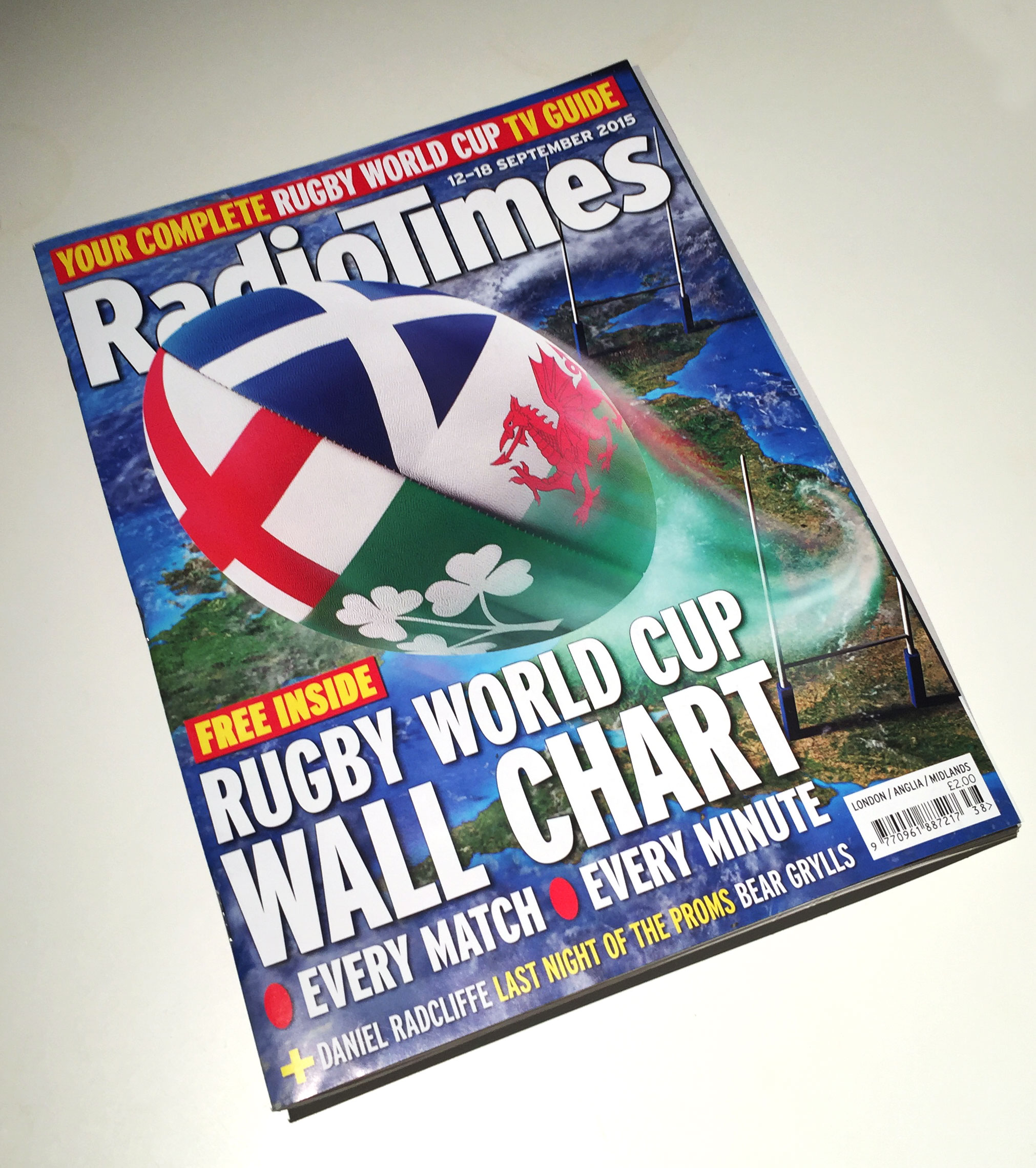 Rugby Ball Radio Times cover