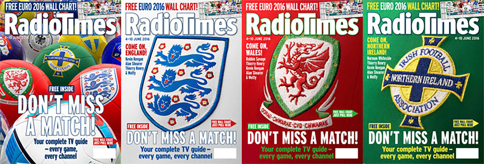 Radio Times Euro 2016 covers