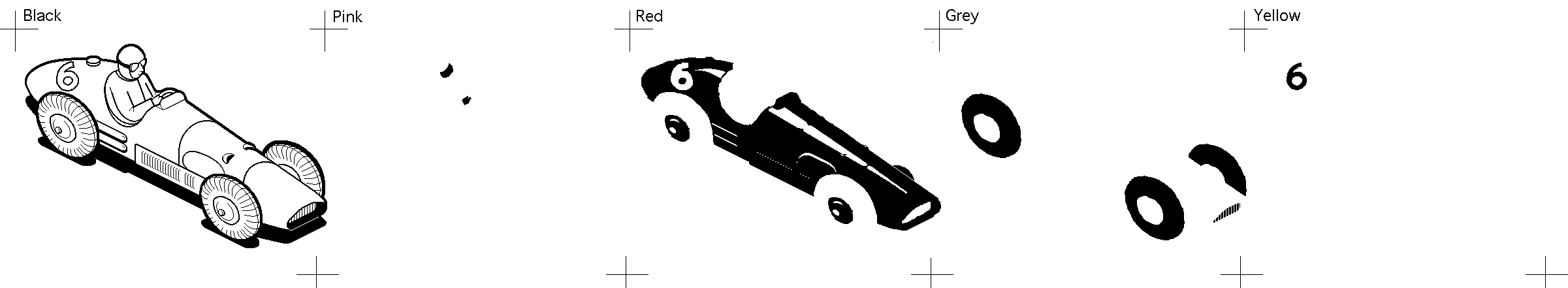 Ferrari Macuser bitmap illustration Separations