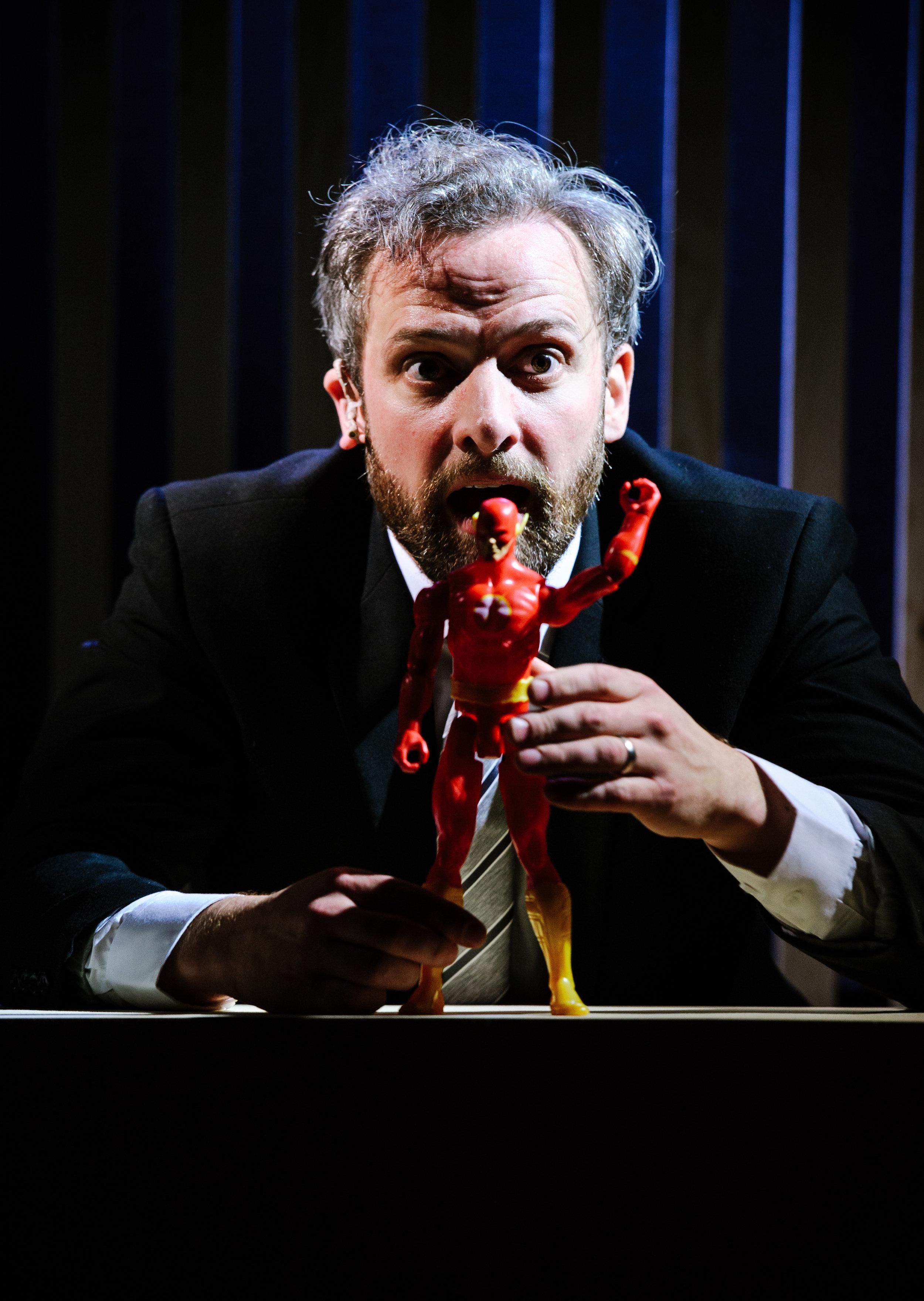 Michael Rouse in Superhero at Southwark Playhouse. Credit Alex Brenner (2).jpg